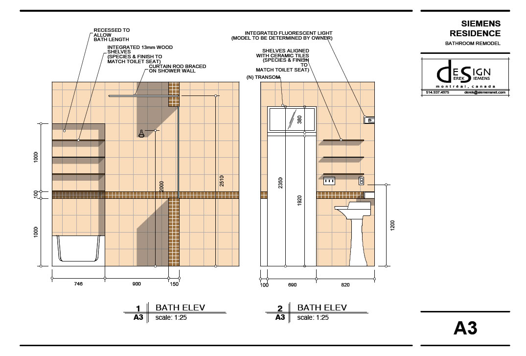 Toilet Elevation Plan : Redo bathroom floor floors